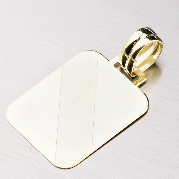 Destička ze žlutého zlata 43-2058