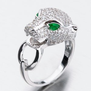 Masivní stříbrný prsten se zirkony PKL-1004