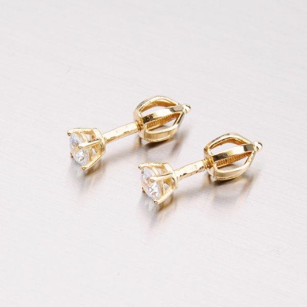 Zlaté náušnice pecky 42-32425
