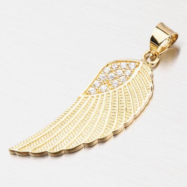 Zlatý přívěsek - andělské křídlo 43-21643