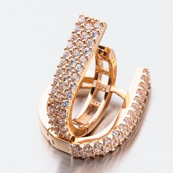 Kruhy z růžového zlata 12-525