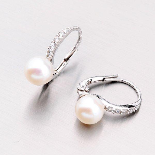Zlaté perlové náušnice 42-32401