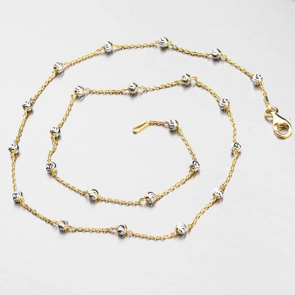 Stříbrný náhrdelník CHRS-Station-RND-MN-Y/WR-003