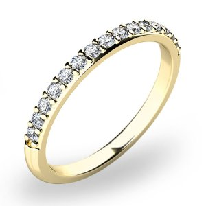 Dámský prsten s diamanty ze žlutého zlata 10845D