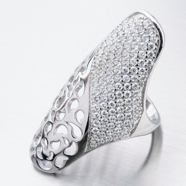 Masivní stříbrný prsten se zirkony PKL-1003