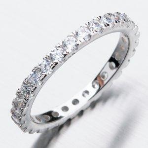 Stříbrný prsten se zirkony GST-11369