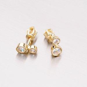 Zlaté náušnice pecky 42-31657