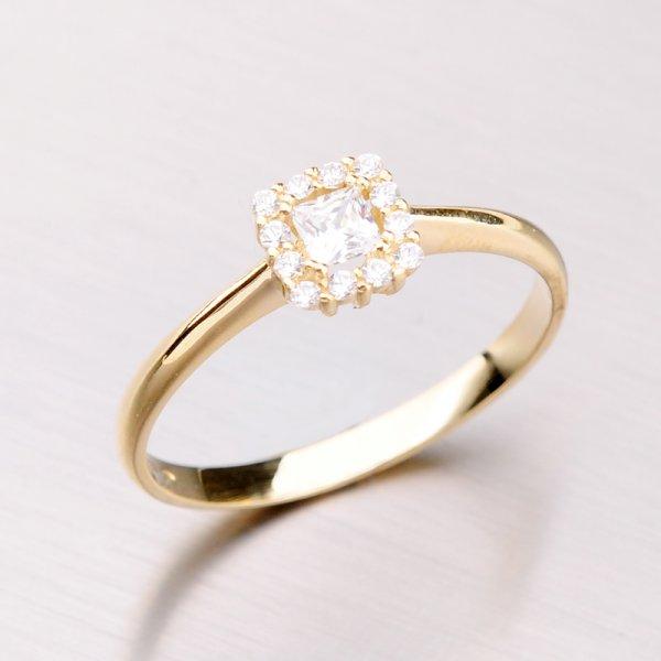 Zlatý prsten se zirkony 41-NL01