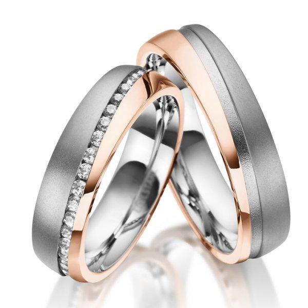 Ocelové snubní prsteny SP-ES-033