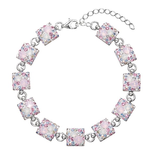 Stříbrný náramek se Swarovski krystaly růžový 33047.3 33047.3 MAGIC ROSE