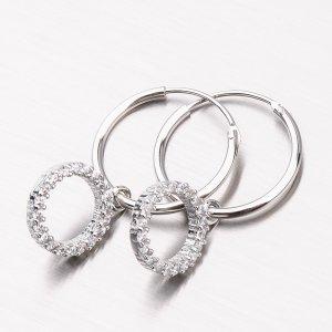 Stříbrné kruhy UCST-122060
