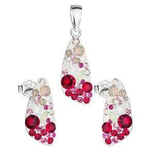 Sada šperků s krystaly Swarovski náušnice a přívěsek mix barev 39167.3 sweet love 39167.3