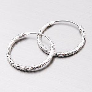 Stříbrné kruhy UCST-12350/16/N