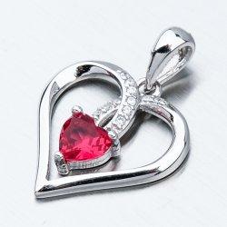 Stříbrný přívěsek srdce HST-13539
