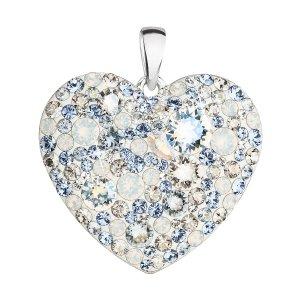 Stříbrný přívěsek s krystaly Swarovski modré srdce 34243.3 light sapphire 34243.3