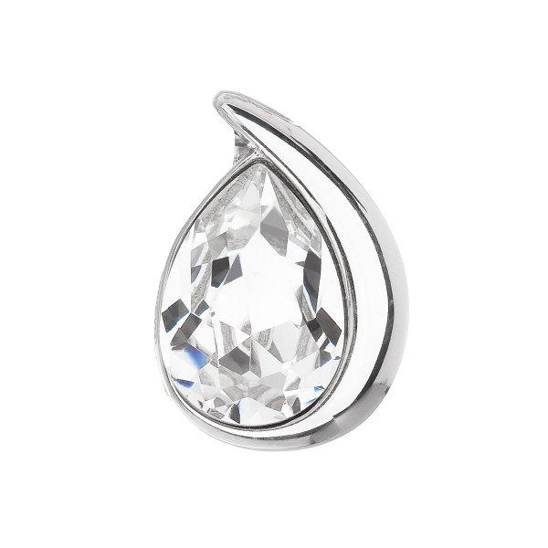 Stříbrný přívěsek s krystalem Swarovski bílá slza 34233.1 34233.1