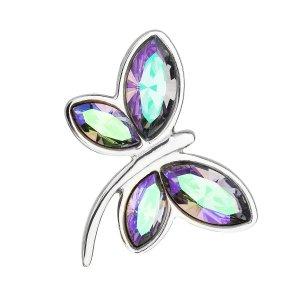Stříbrný přívěsek s krystaly Swarovski fialová vážka 34211.5 34211.5
