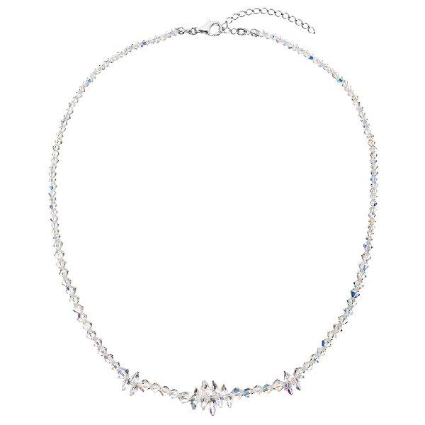 Stříbrný náhrdelník s krystaly Swarovski AB efekt hrozen 32064.2 32064.2