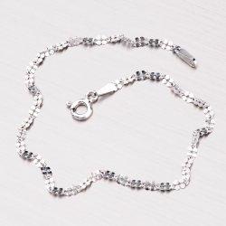 Stříbrný náramek s lesklými facetami CHRS-DAISY-030