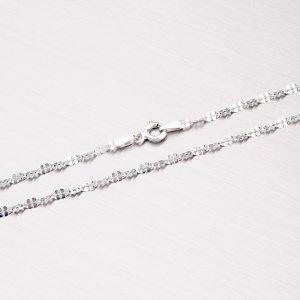 Stříbrný řetízek s lesklými facetami CHRS-DAISY-030