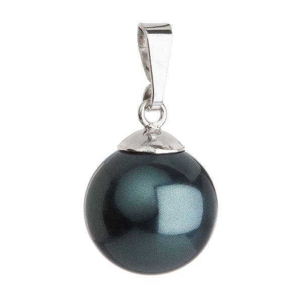 Stříbrný přívěsek se zelenou kulatou perlou 734151.3 734151.3
