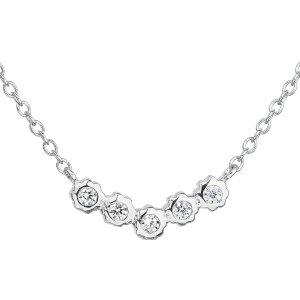 Stříbrný náhrdelník se zirkonem v bílé barvě 12014.1 12014.1