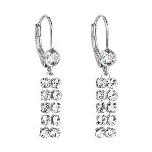 Stříbrné dlouhé náušnice visací se Swarovski krystaly 71110.1 71110.1
