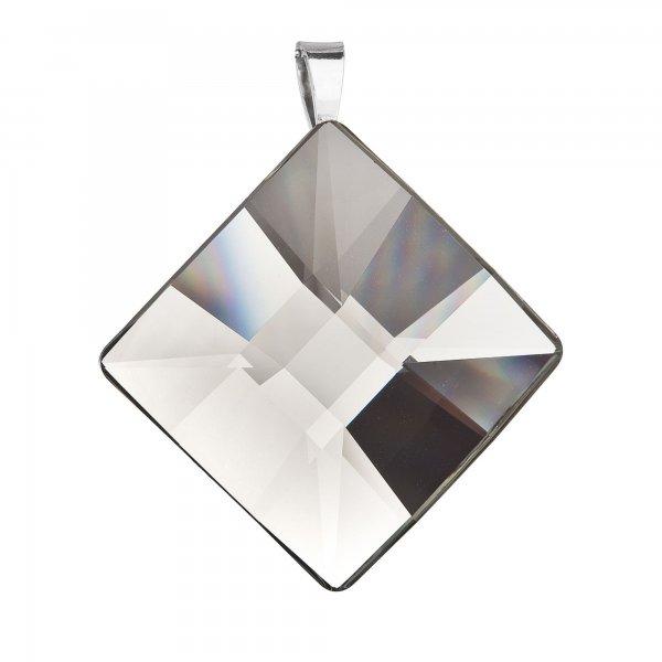 Stříbrný přívěsek kosočtverec šedý 74090.3 black diamond 74090.3