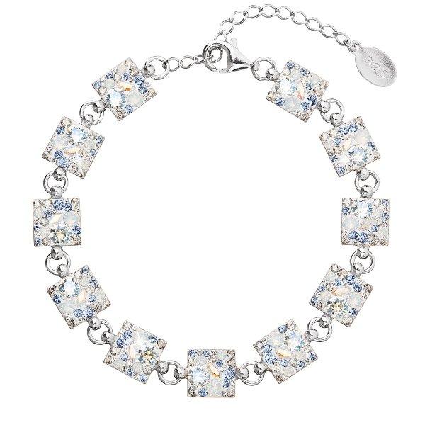 Stříbrný náramek se Swarovski krystaly modrý 33047.3 light sapphire 33047.3