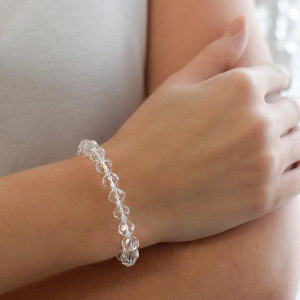 Náramek se Swarovski krystaly bílý 73043.1 73043.1