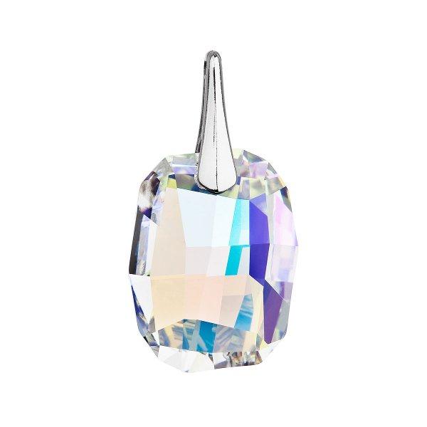 Stříbrný přívěsek s krystaly Swarovski ab efekt obdélník 34254.2 34254.2