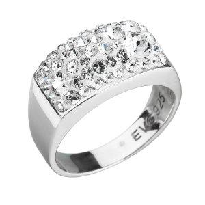 Stříbrný prsten s krystaly Swarovski bílý 35014.1 krystal 35014.1-001-56