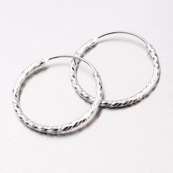 Stříbrné kruhy UCST-12787/25/N