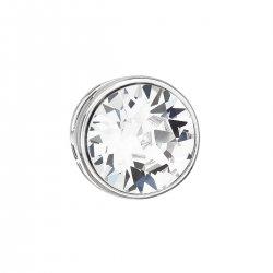 Stříbrný přívěsek s krystalem Swarovski bílý kulatý 34231.1 34231.1