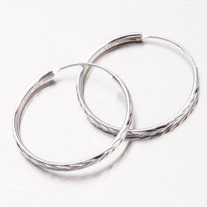 Stříbrné kruhy UCST-122098/30/N