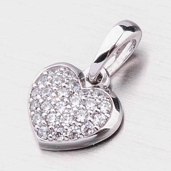 Zlaté srdce se zirkony 53DZ-6295B-ZIR