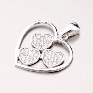 Stříbrný přívěsek srdce GLM13-028