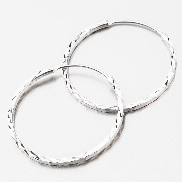 Stříbrné kruhy UCST-122439/25/B
