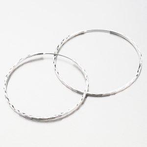 Stříbrné kruhy gravírované UCST-122439/40/B