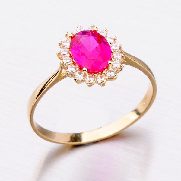 Zlatý prsten s rubínem 11-300