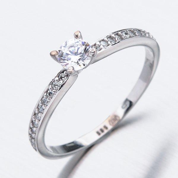 Zlatý prsten se zirkony 51DZ-2523B-ZIR