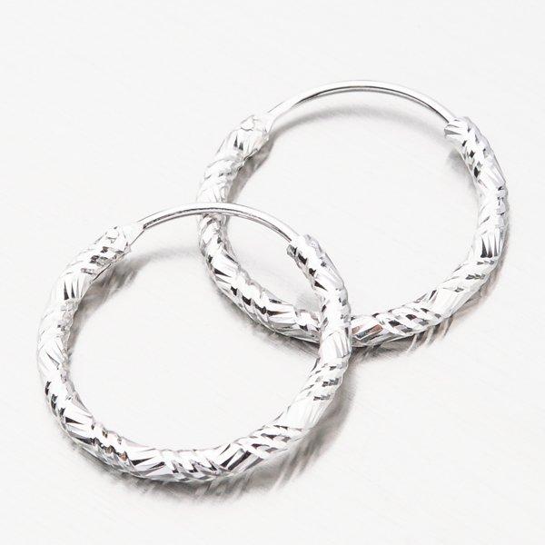 Stříbrné kruhy UCST-12644/16/N