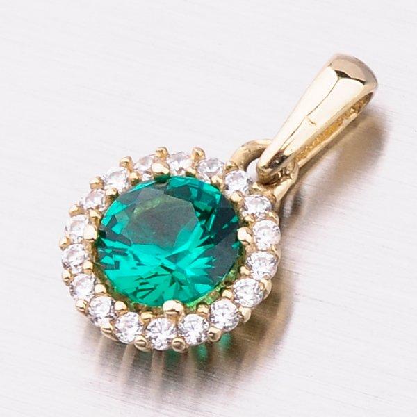 Zlatý přívěsek se smaragdem 13-361