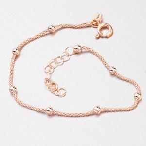 Růžově pozlacený náramek s kuličkami B2000939-0850-SLX