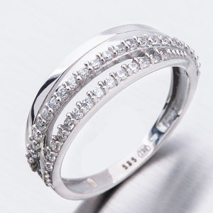 Zlatý prsten se zirkony 51GZ-3352B