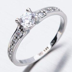 Zlatý prsten se zirkony 51GZ-2956B