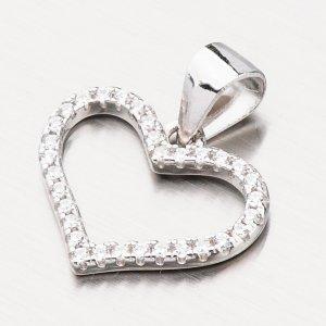 Stříbrný přívěsek srdce HST-13232