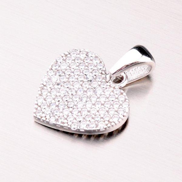 Stříbrný přívěsek srdce GLM13-026