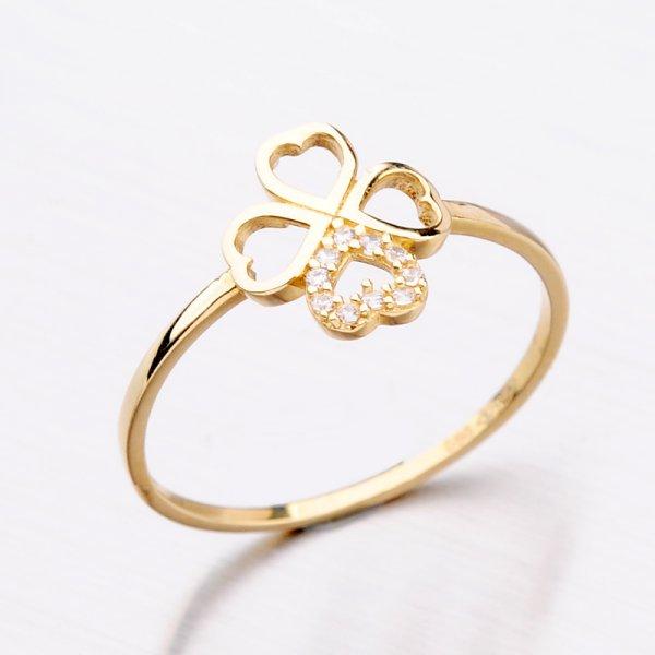 Zlatý dámský prsten 11-295