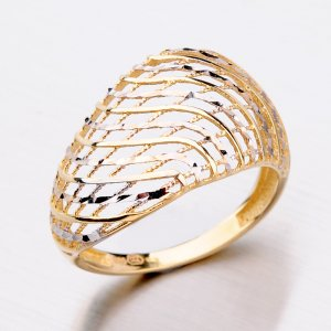 Zlatý dámský prsten 11-305